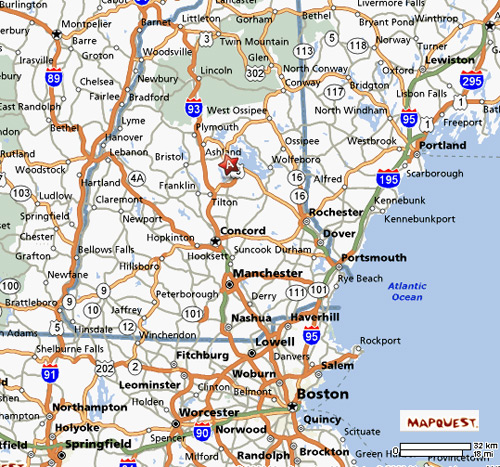 Nh Traffic Map.Proctor S Lakehouse Cottages Map Directions
