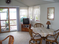 waterfront rental condo Living room
