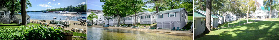 Waterfront Rental Cottages on Winnipesaukee